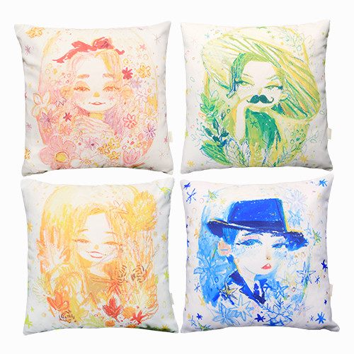 [MAMAMOO] ILLUSTRATION CUSHION COVER